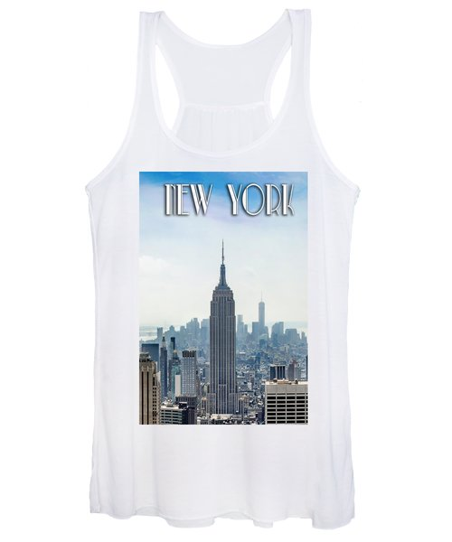 New York Classic View With Text Women's Tank Top