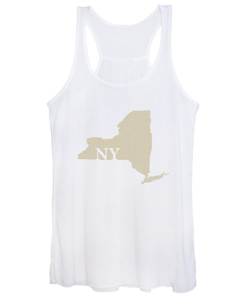 New York State Map With Text Of Constitution Women's Tank Top