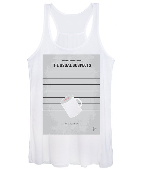 No095 My The Usual Suspects Minimal Movie Poster Women's Tank Top