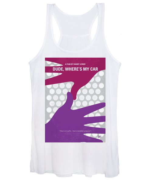 No654 My Dude Wheres My Car Minimal Movie Poster Women's Tank Top