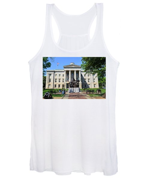 North Carolina State Capitol Building With Statue Women's Tank Top