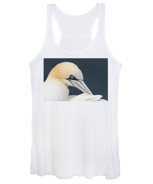 Northern Gannet At Troup Head - Scotland Women's Tank Top