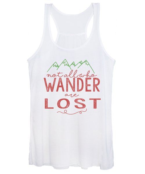 Not All Who Wander Are Lost In Pink Women's Tank Top
