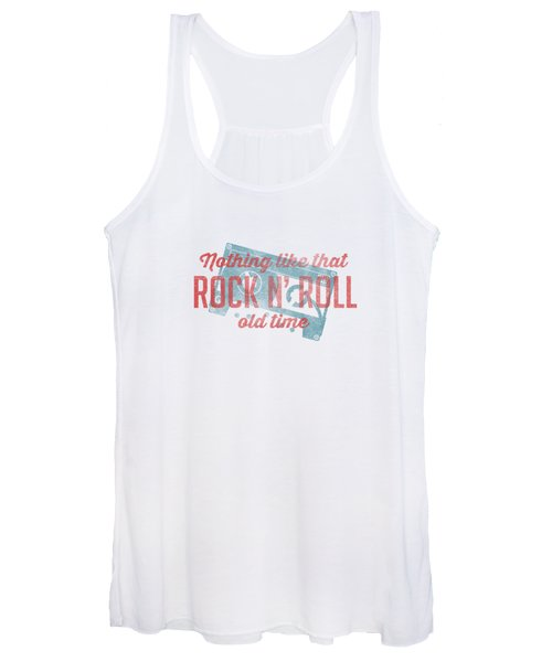 Nothing Like That Old Time Rock And Roll Tee White Women's Tank Top