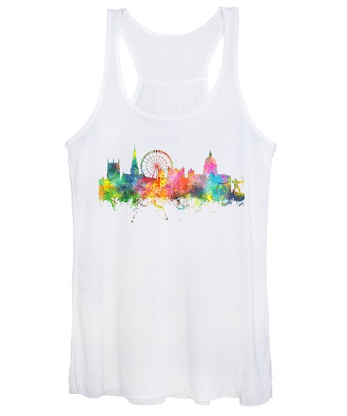 Nottingham  England Skyline Women's Tank Top