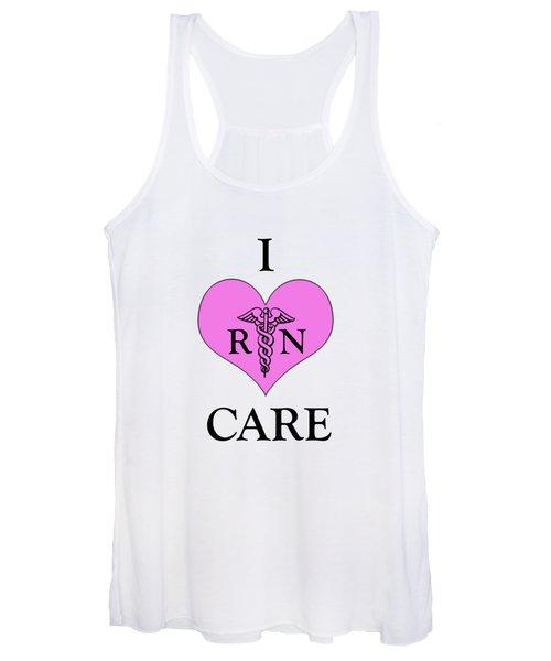 Nursing I Care -  Pink Women's Tank Top