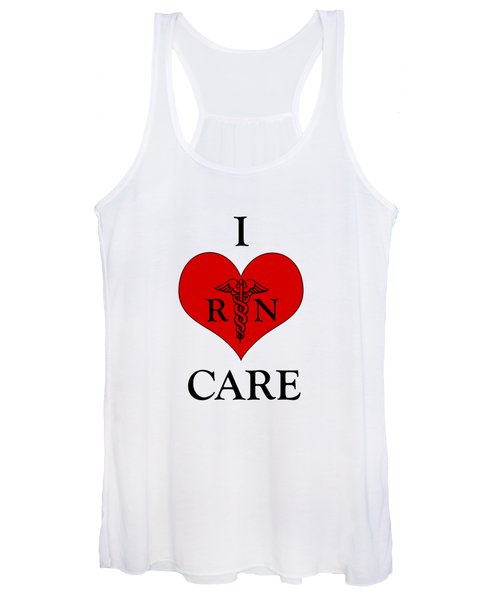 Nursing I Care -  Red Women's Tank Top