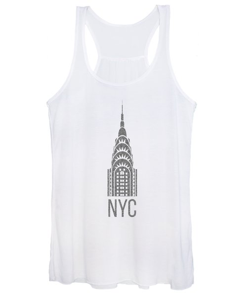Women's Tank Top featuring the digital art Nyc New York City Graphic by Edward Fielding