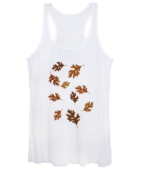 Oak Leaves Art Women's Tank Top