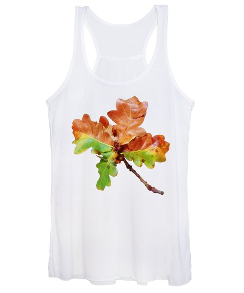 Oak Leaves Autumn Glow Women's Tank Top