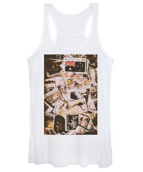 Old Australia In Stamps Women's Tank Top