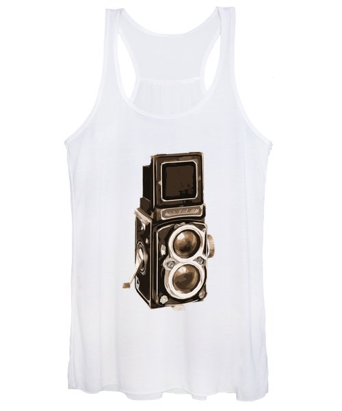 Old Camera Phone Case Women's Tank Top