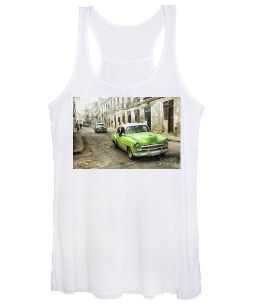 Old Green Car Women's Tank Top