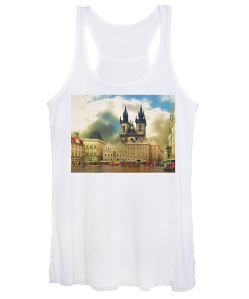 Old Town Square Prague In The Rain Women's Tank Top