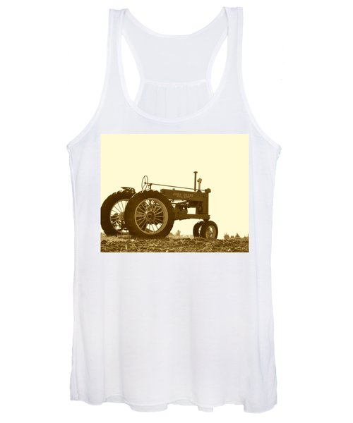 Old Tractor IIi In Sepia Women's Tank Top