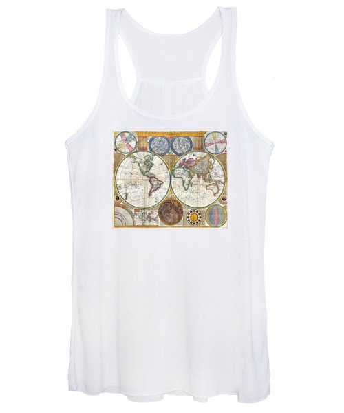 Old World Map Print From 1794 Women's Tank Top