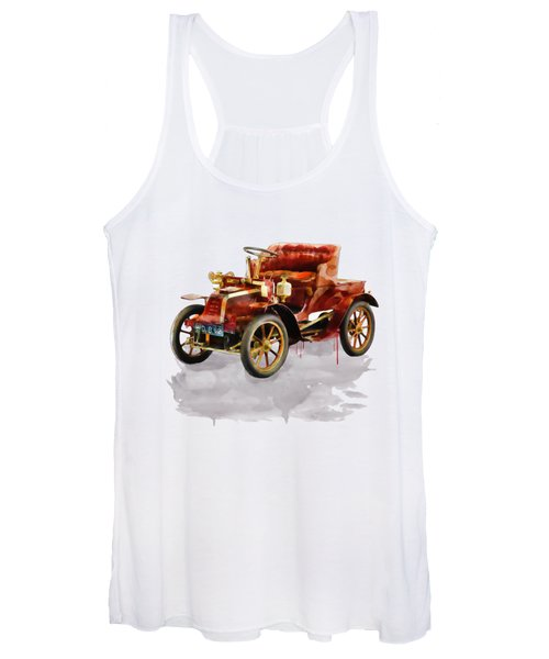 Oldtimer Car Watercolor Women's Tank Top