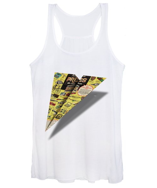 Olympic Sales Club Comic Book Ad Paper Airplane Women's Tank Top
