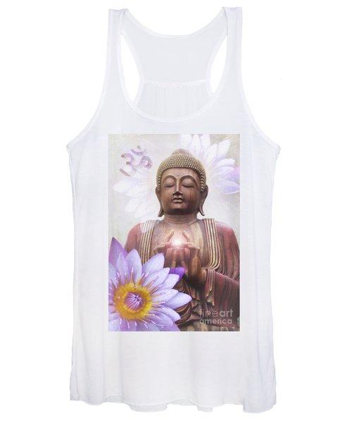 Om Mani Padme Hum - Buddha Lotus Women's Tank Top