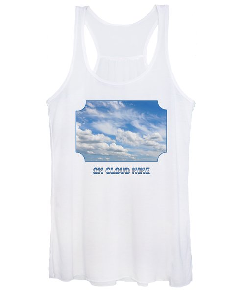 On Cloud Nine - Blue Women's Tank Top
