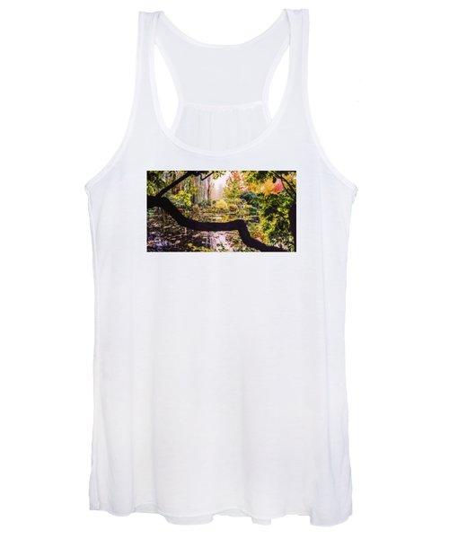 On Oscar - Claude Monet's Garden Pond  Women's Tank Top