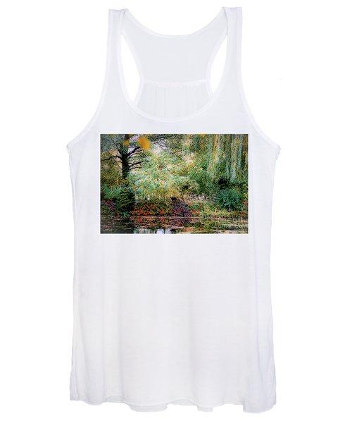 Reflection On, Oscar - Claude Monet's Garden Pond Women's Tank Top