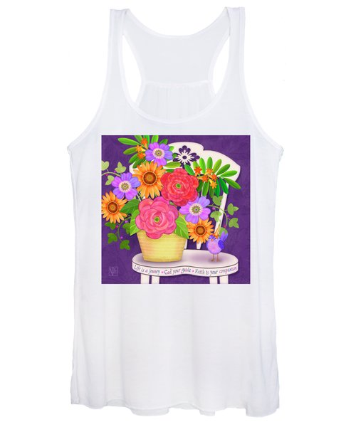 On The Bright Side - Flowers Of Faith Women's Tank Top