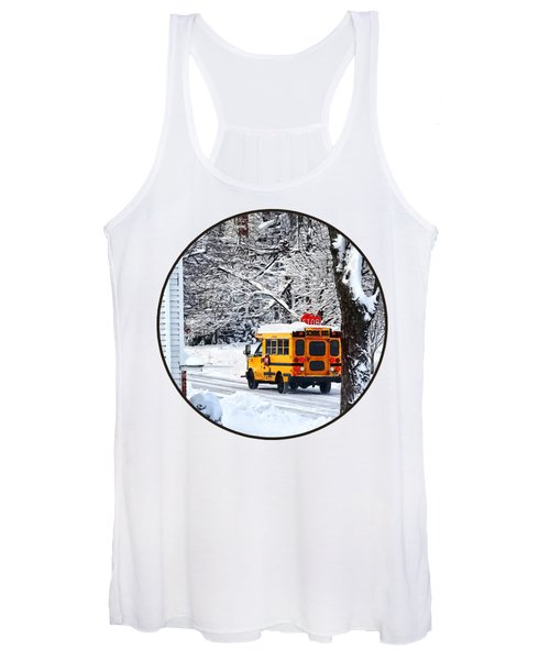 On The Way To School In Winter Women's Tank Top