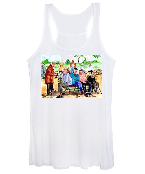 Once Upon A Park Bench Women's Tank Top