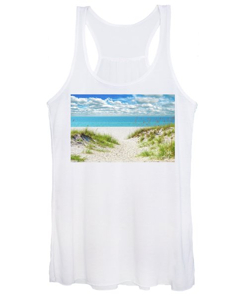 Orange Beach Al Seascape 1086a Women's Tank Top