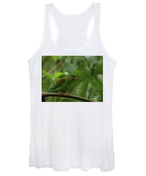 Orange-chinned Parakeet  Women's Tank Top