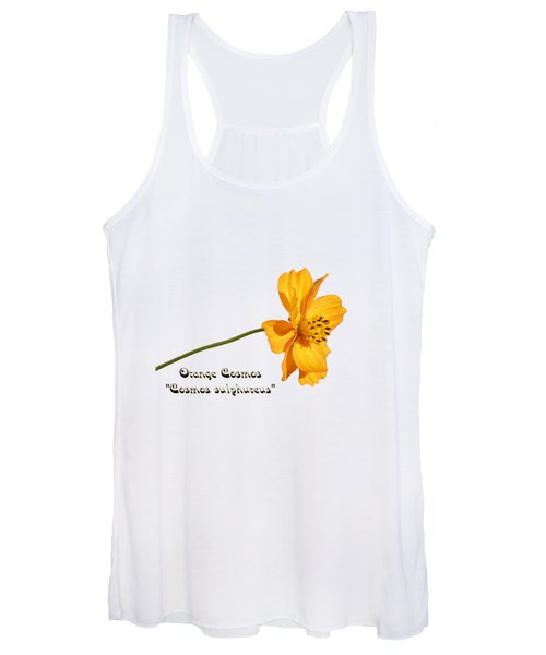 Orange Cosmos Isolated 2018-1 Women's Tank Top