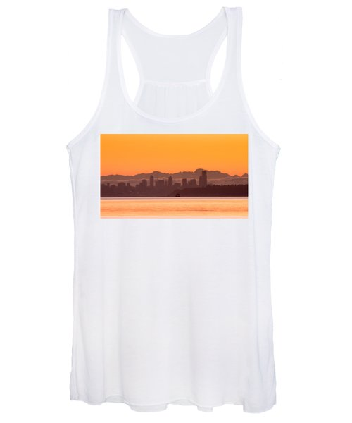 Seattle Skyline In Orange Women's Tank Top