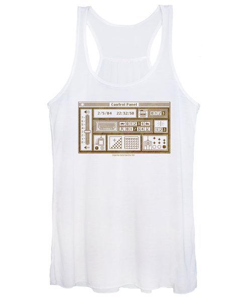 Original Mac Computer Control Panel Circa 1984 Women's Tank Top