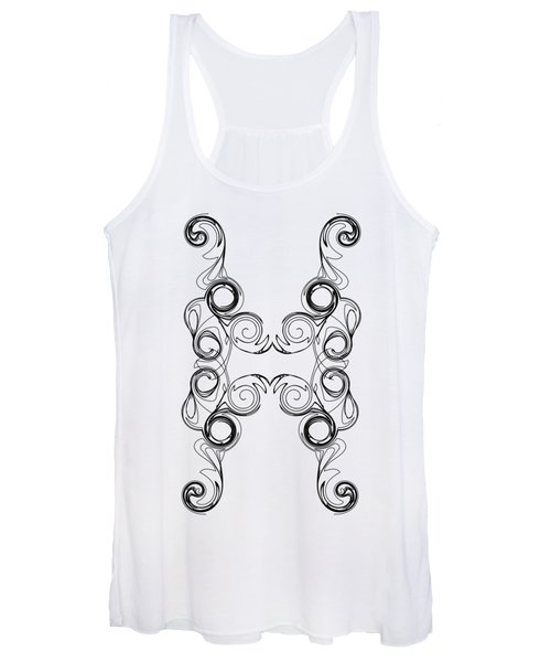 Ornate Curly Color Your Background Women's Tank Top