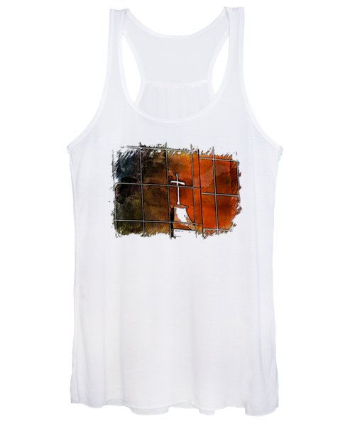 Our Father Earthy Rainbow 3 Dimensional Women's Tank Top