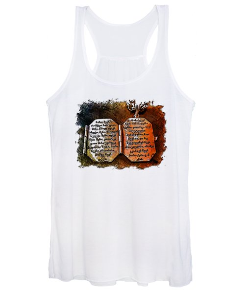 Our Father Who Art In Heaven Earthy Rainbow 3 Dimensional Women's Tank Top