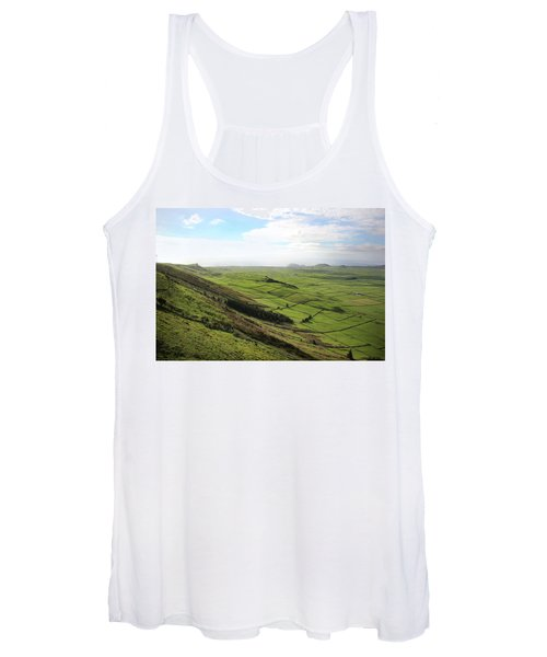 Over The Rim On Terceira Island, The Azores Women's Tank Top