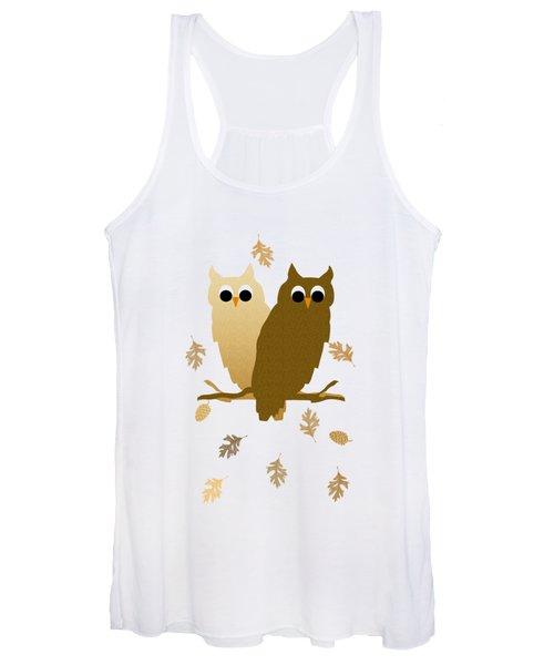 Owl Pattern Women's Tank Top