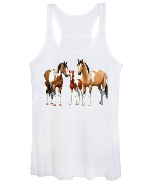 Paint Horses In Winter Corral Women's Tank Top