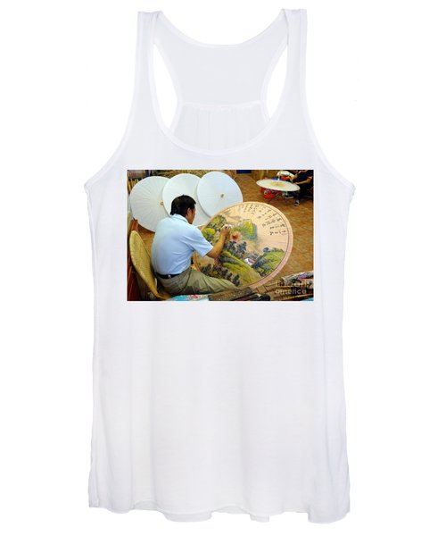 Painting Chinese Oil-paper Umbrellas Women's Tank Top
