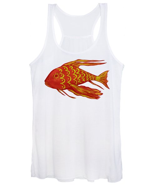Painting Red Fish Women's Tank Top