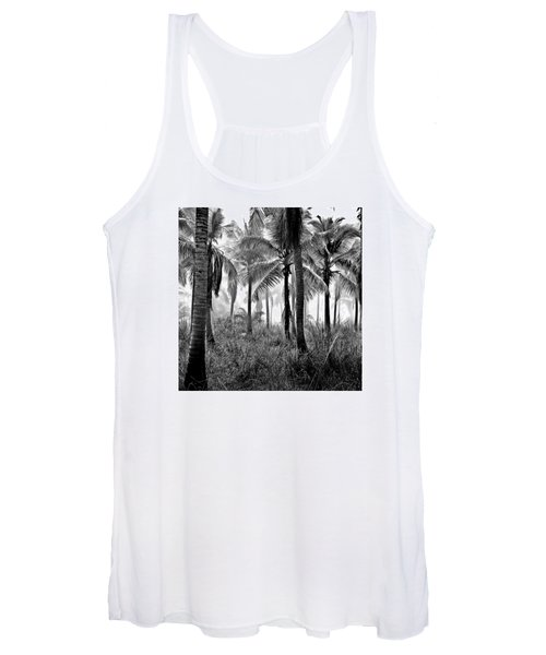Palm Trees - Black And White Women's Tank Top