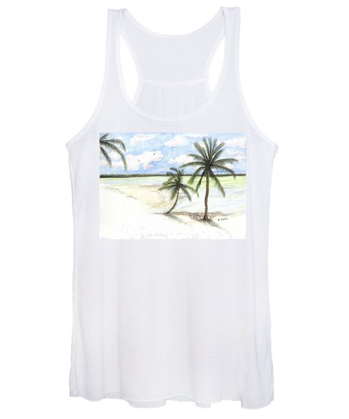 Palm Trees On The Beach Women's Tank Top