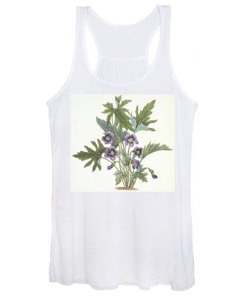 Palmate Leaved Violet Women's Tank Top