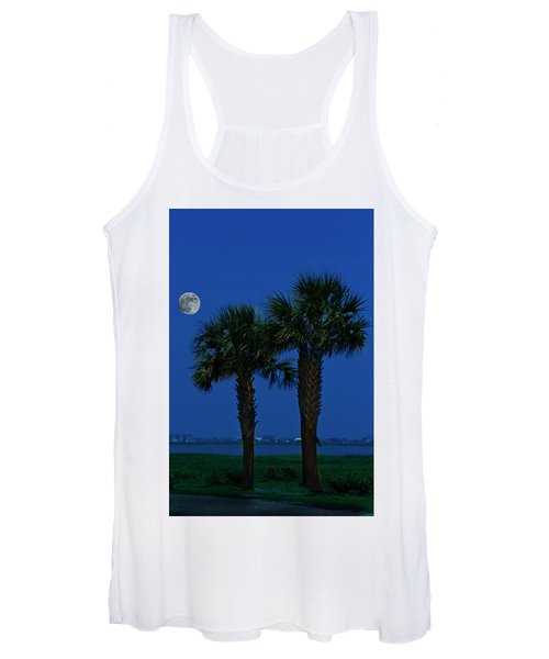 Palms And Moon At Morse Park Women's Tank Top