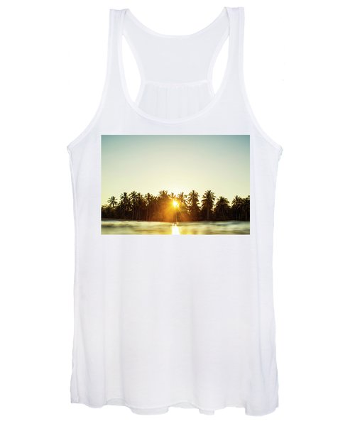 Palms And Rays Women's Tank Top