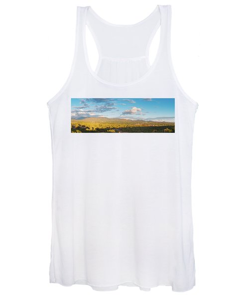 Panorama Of Santa Fe And Sangre De Cristo Mountains - New Mexico Land Of Enchantment Women's Tank Top