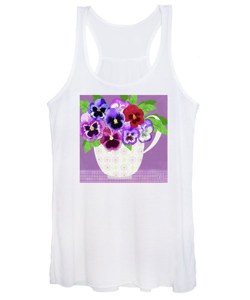 Pansies Stand For Thoughts Women's Tank Top