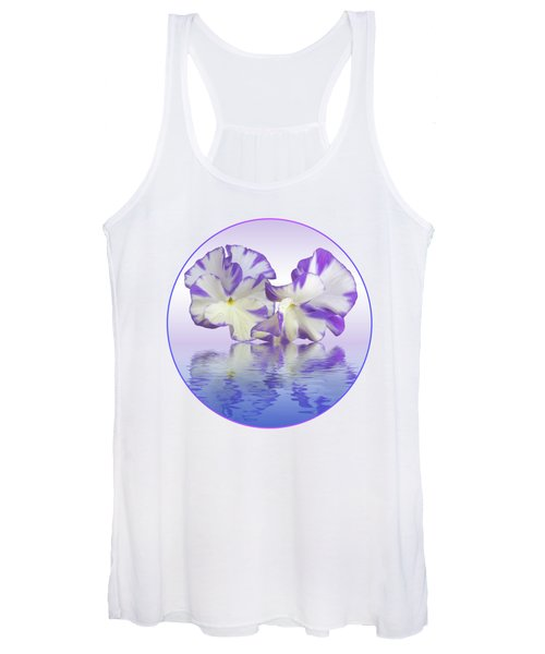 Pansy Reflections Women's Tank Top